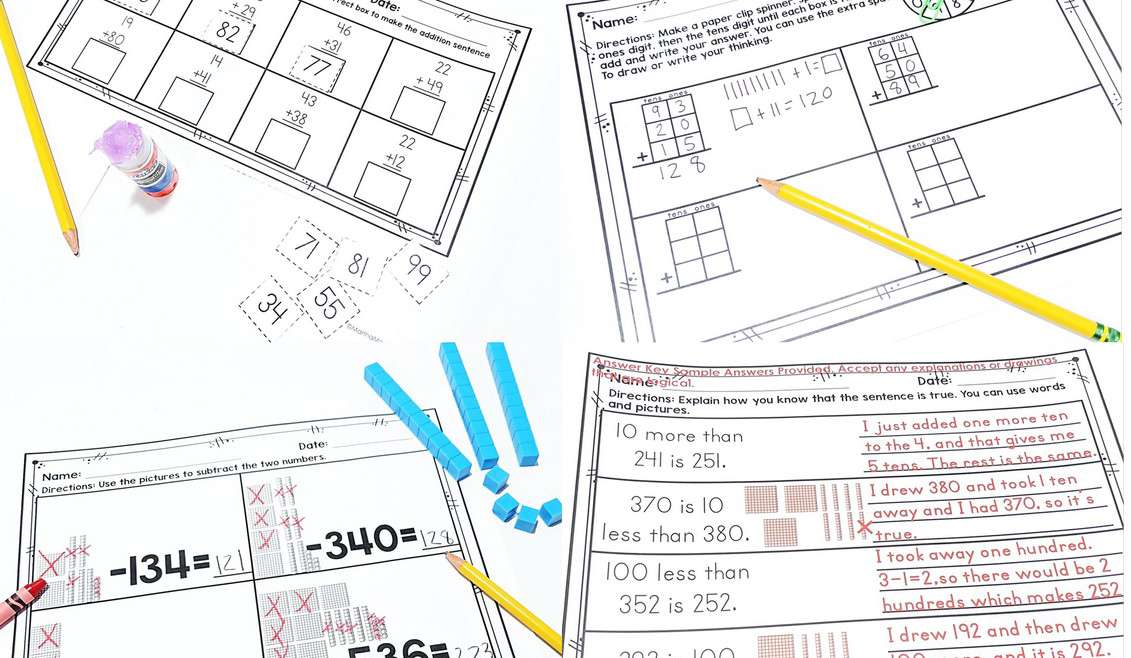 Common Core Math Skills For First Grade And Second Grade- Addition,  Subtraction, Place Value- All Standards Are Covered With The Comprehensive  Resources And Ideas! -