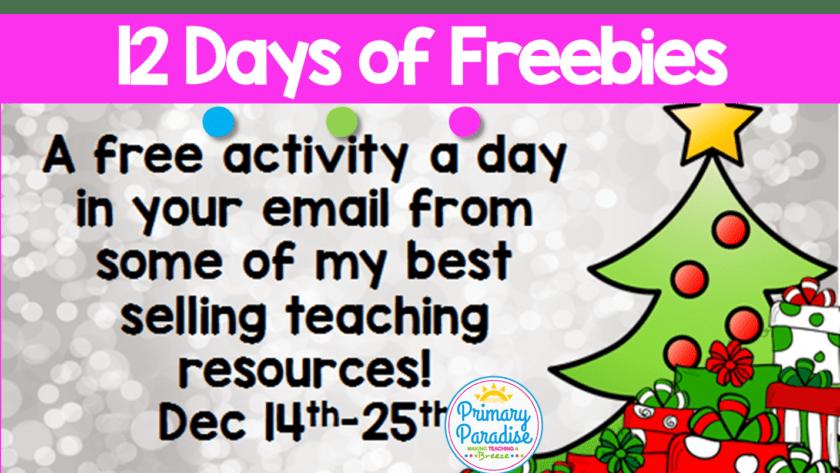 12 Days of Freebies!