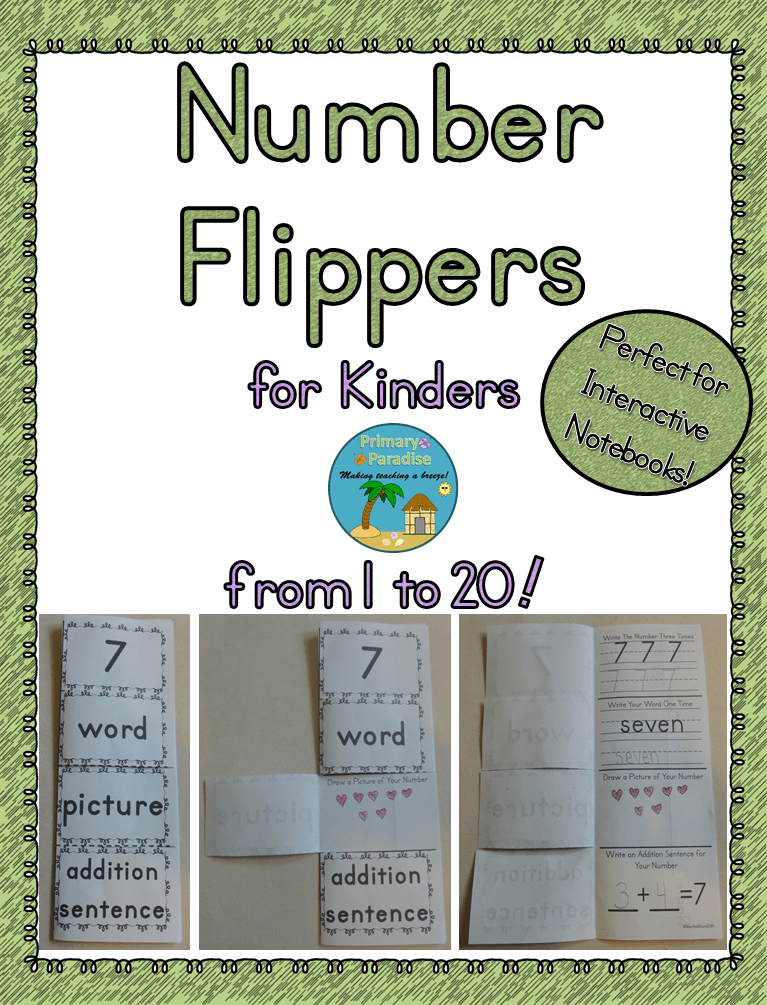 Number Flippers for Kinders