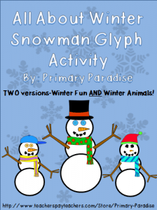 Celebrate winter with your students with this fun, snowman glyph freebie! Perfect for a bulletin board!