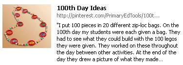 100th Day Pinterest Board