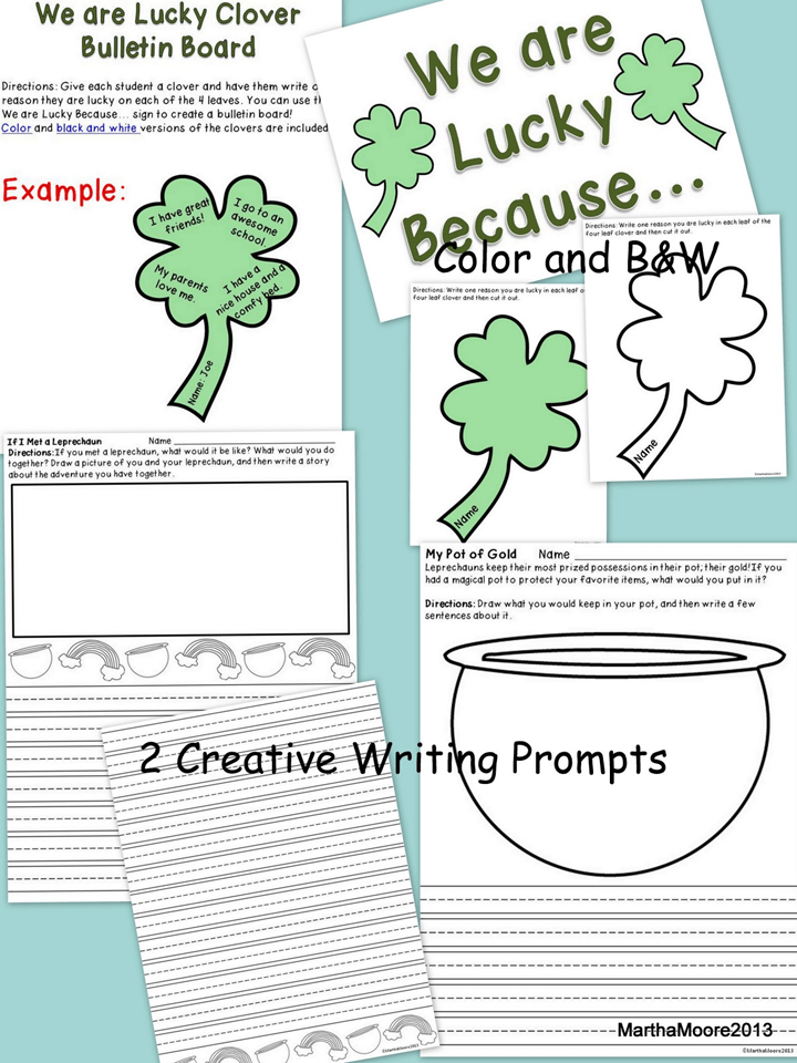 Two Creative Writing Activities