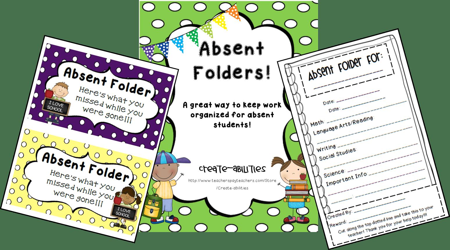 Absent Folders FREEBIE