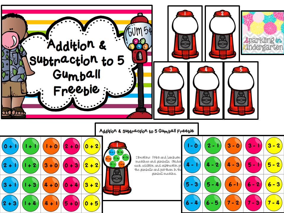 Additon-Subtraction-to-5-Bubblegum-Freebie