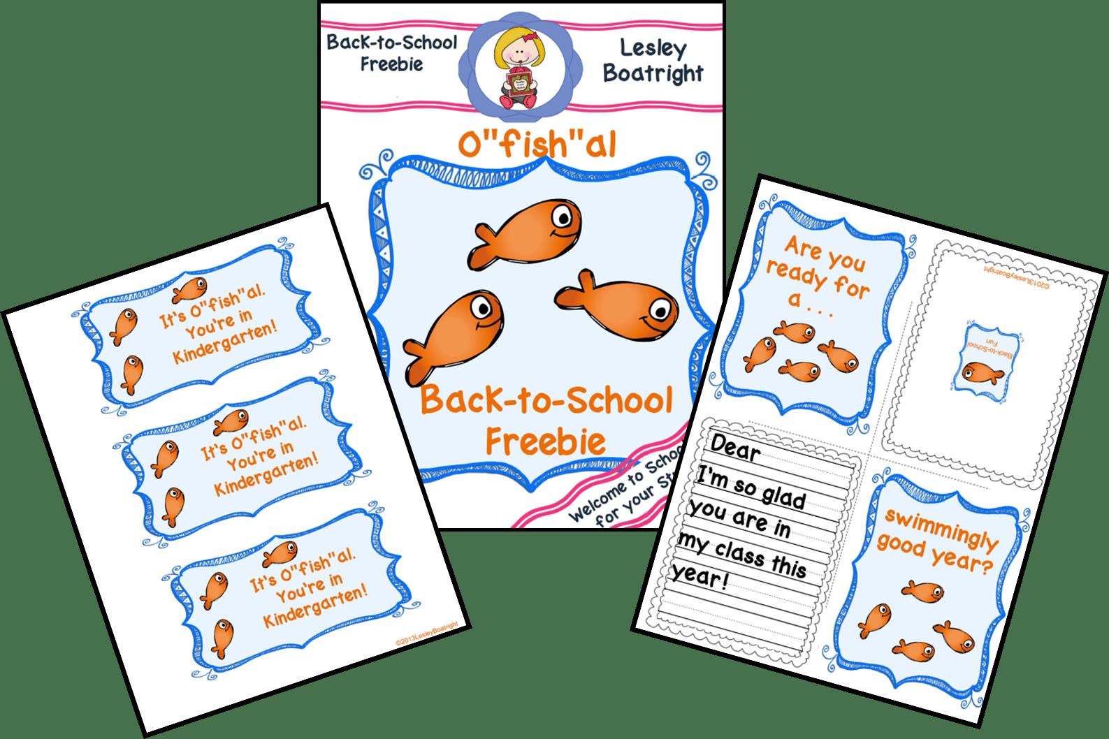 Back to School Fish Freebie