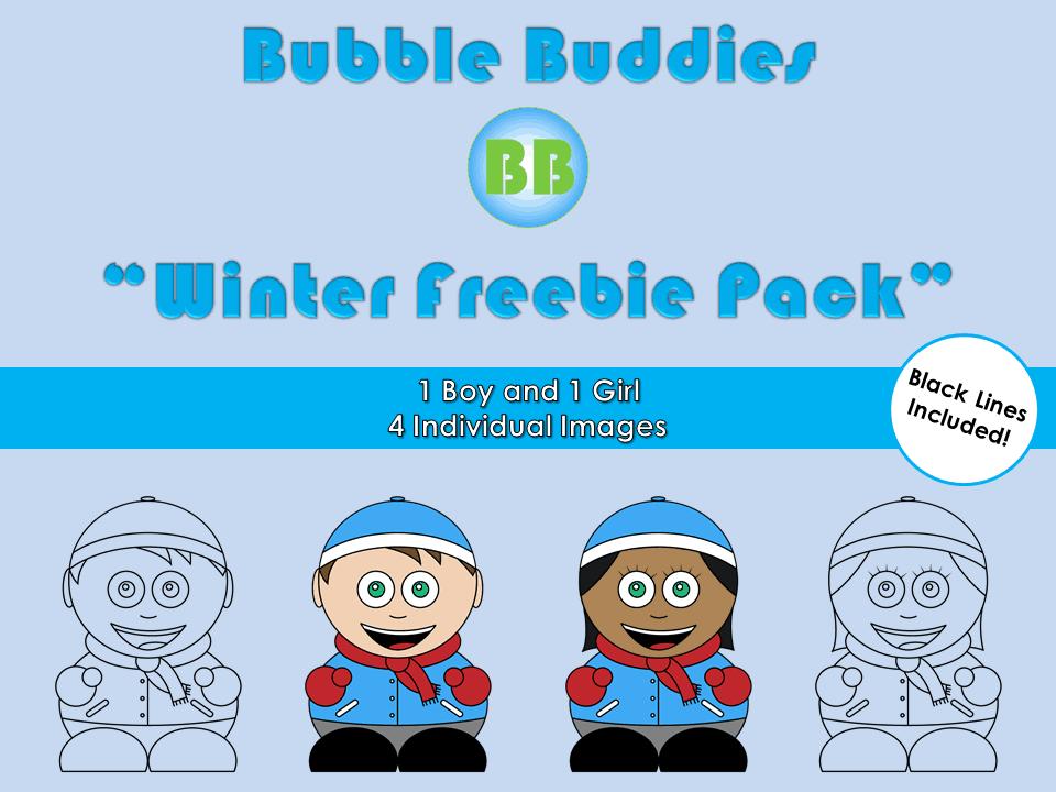 Bubble Buddies Winter Freebie Clipart Pack