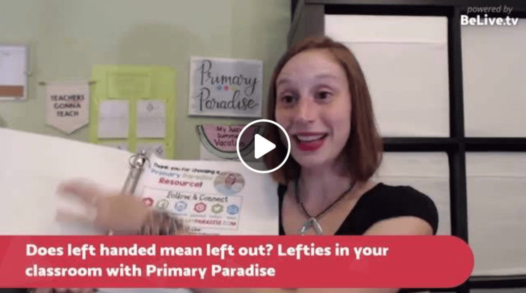 Left handed students: How can you help your left handed students in your classroom adapt to common challenges?