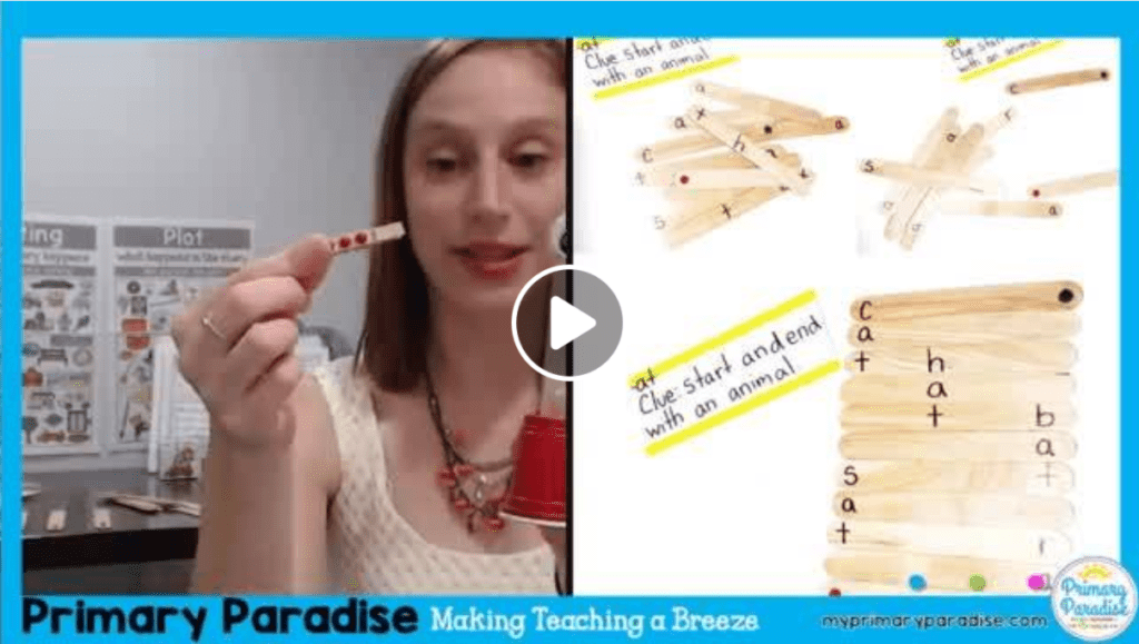 Popsicle sticks are a cheap and easy tool for your students and your classroom! Here are 4 new ways to use popsicle sticks- classroom management, fidget, counting, making words phonics, centers
