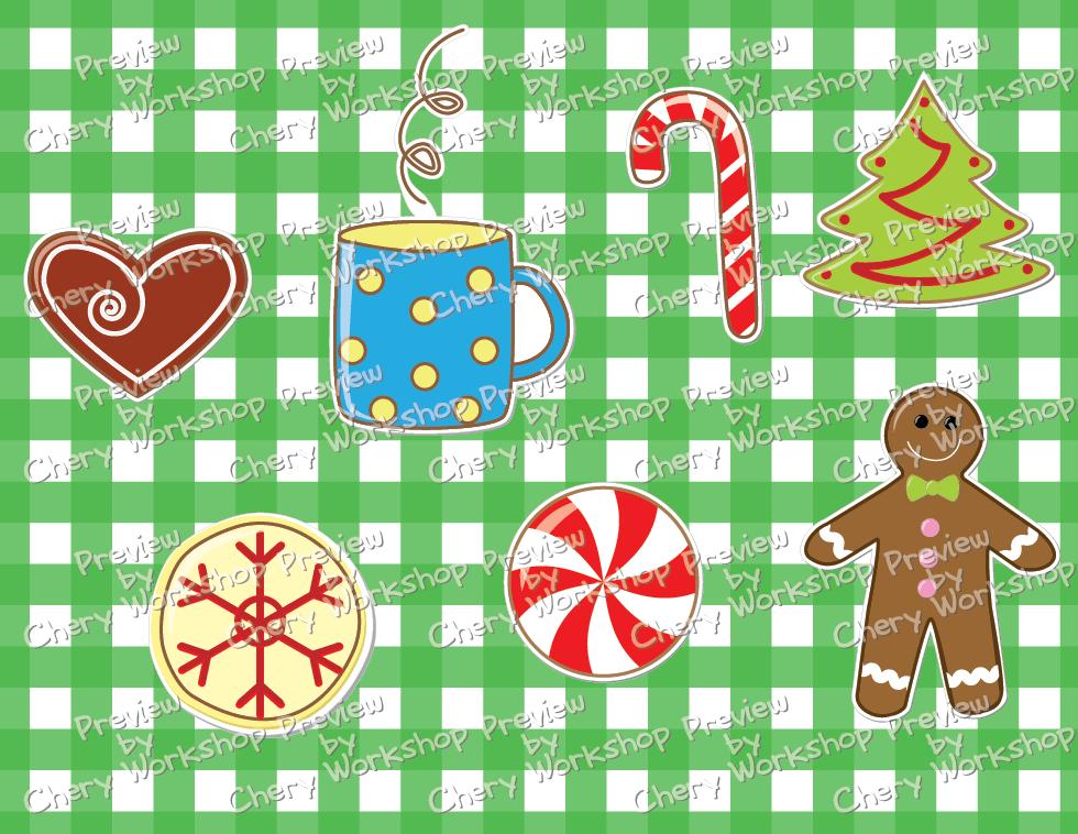Christmas-Cookies-Clip Art FREEBIE