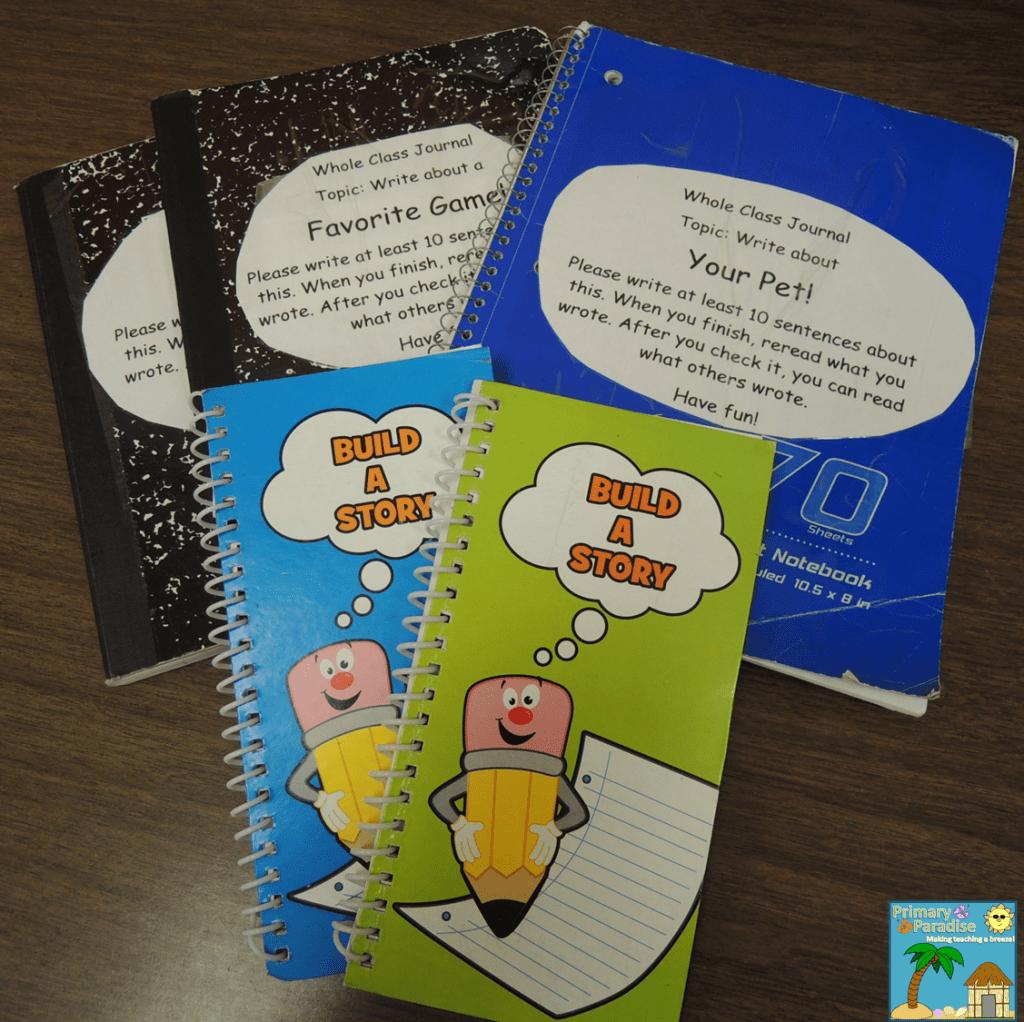 Class Journals and Flip Book
