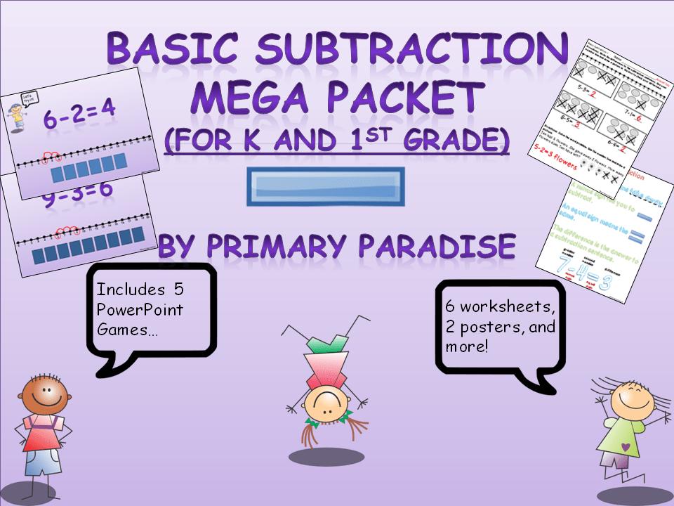 Basic Subtraction MEGA Pack