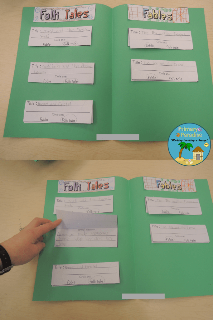 Fable and Folk Tale Sort FREEBIE Complete