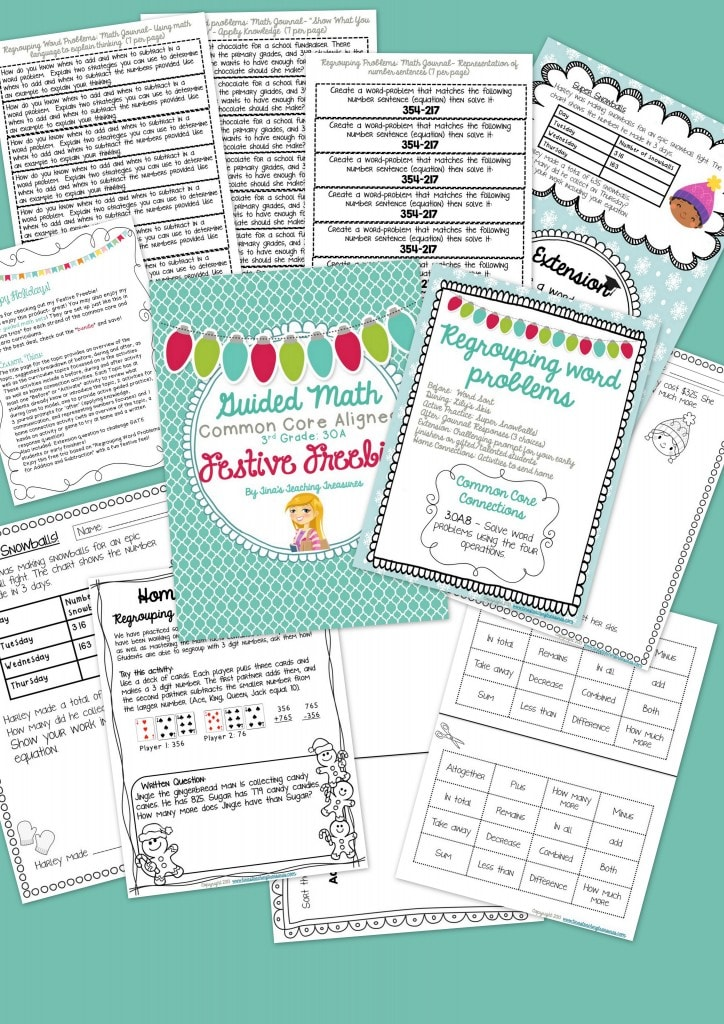 Festive Freebie Guided Math collage.png