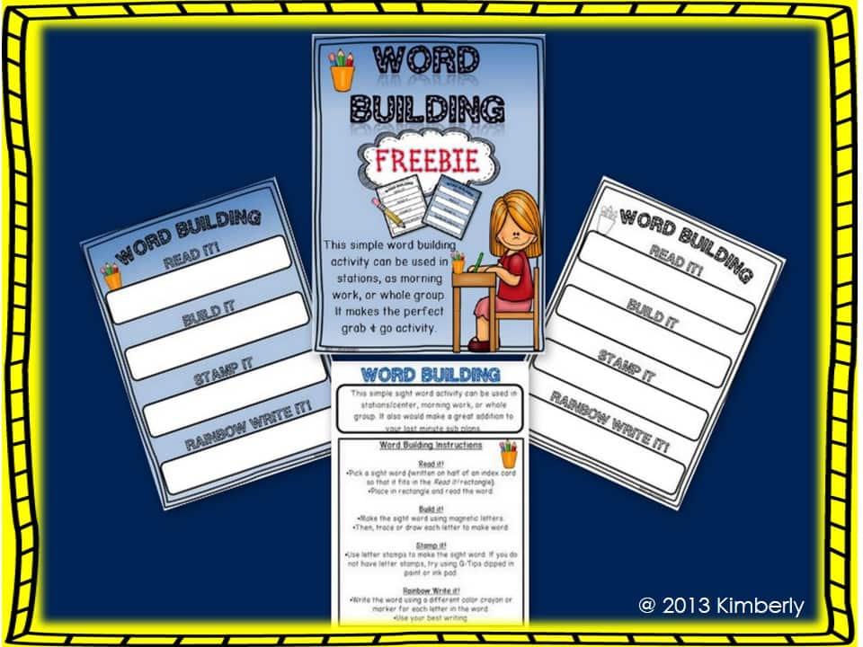 Word Building Freebie