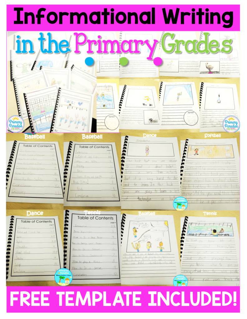 informational writing books for k