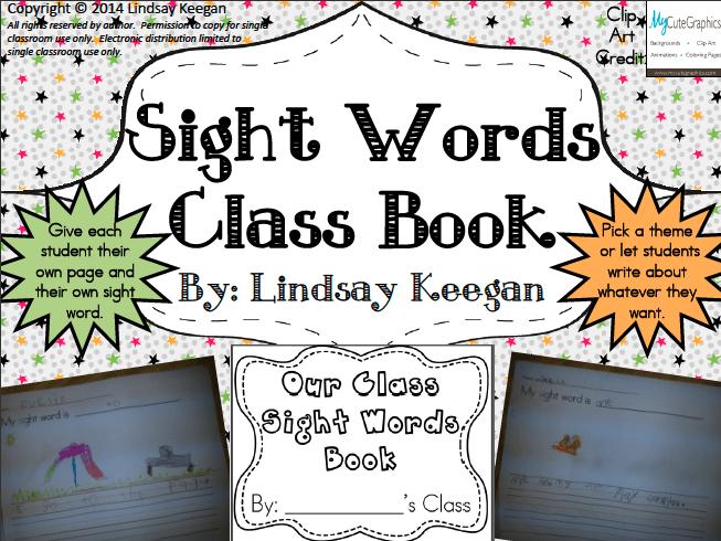 Free Sight Word Class Book