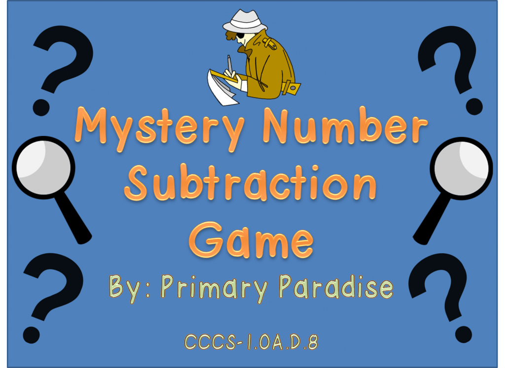 Mystery Number Subtraction PowerPoint Game