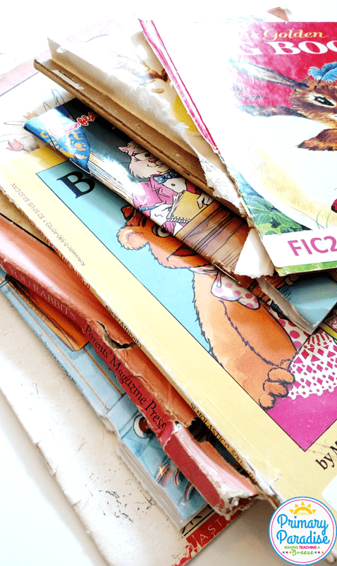 Learn how to turn your ruined, torn classroom library books into engaging and useful instructional tools for your students!