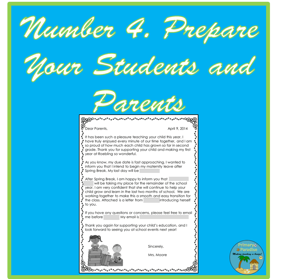 Prepare Students and Parents