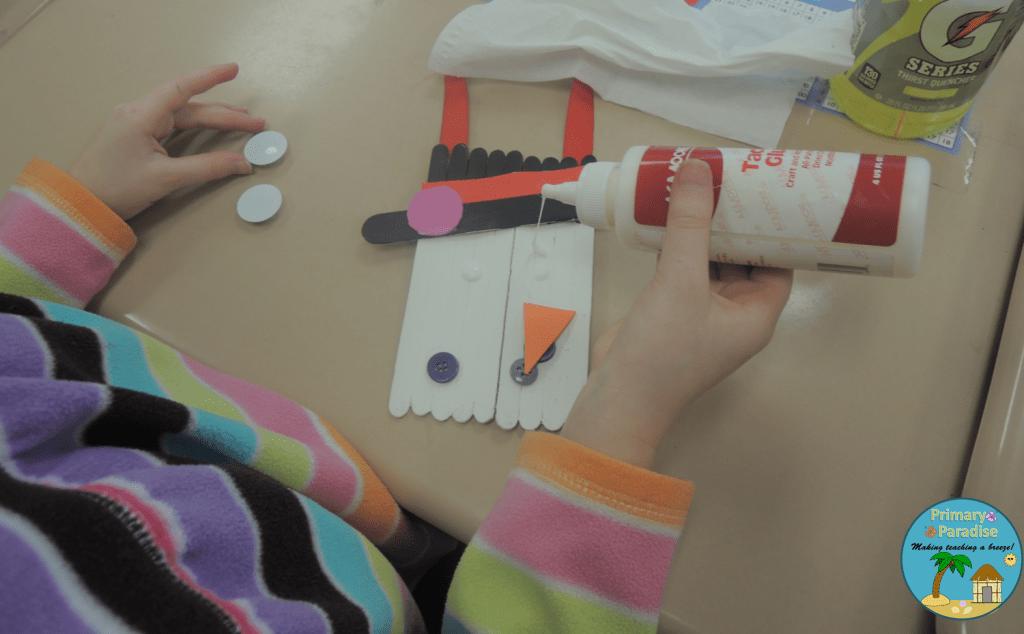 Popsicle Stick Snowman 3