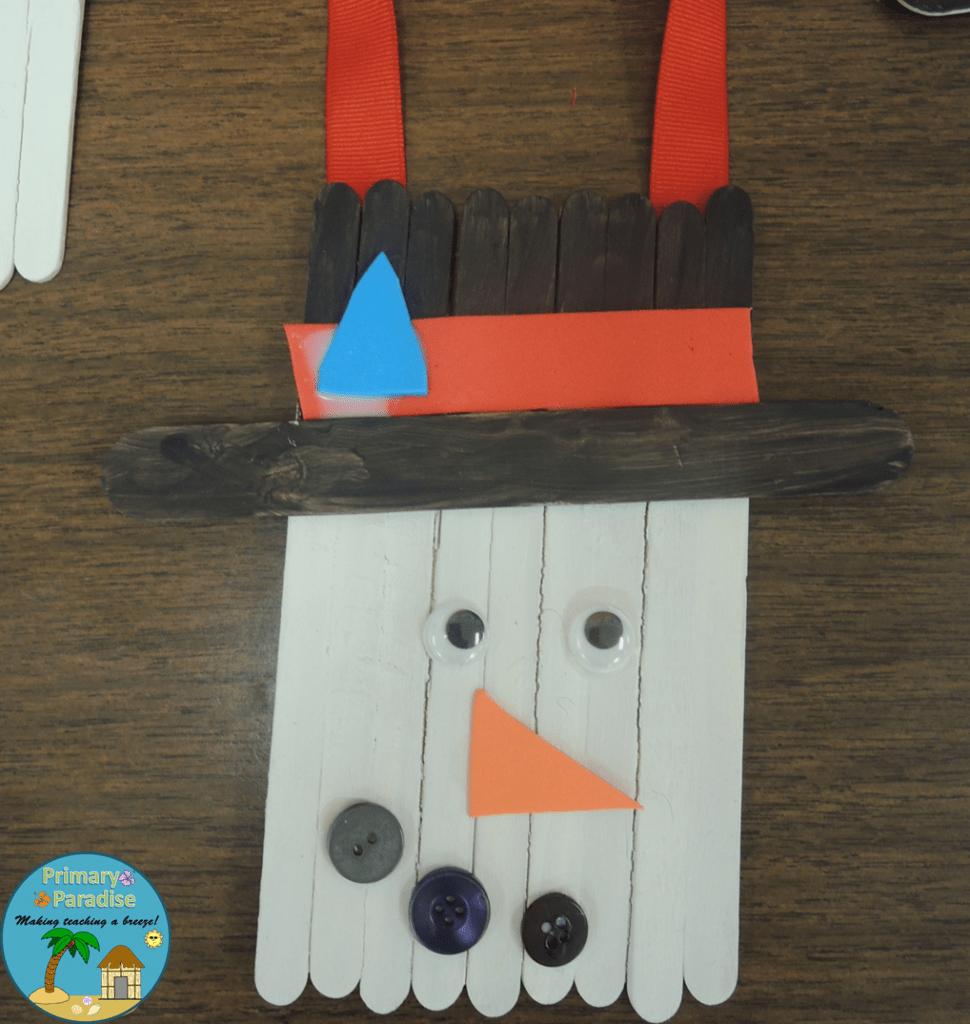 Popsicle Stick Snowman 8