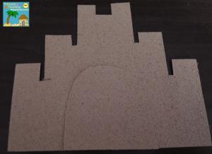 Sand paper sandcastles for beach themed birthday board 3