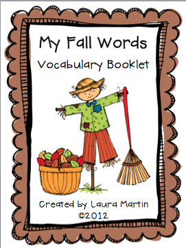Fall Vocabulary Freebie