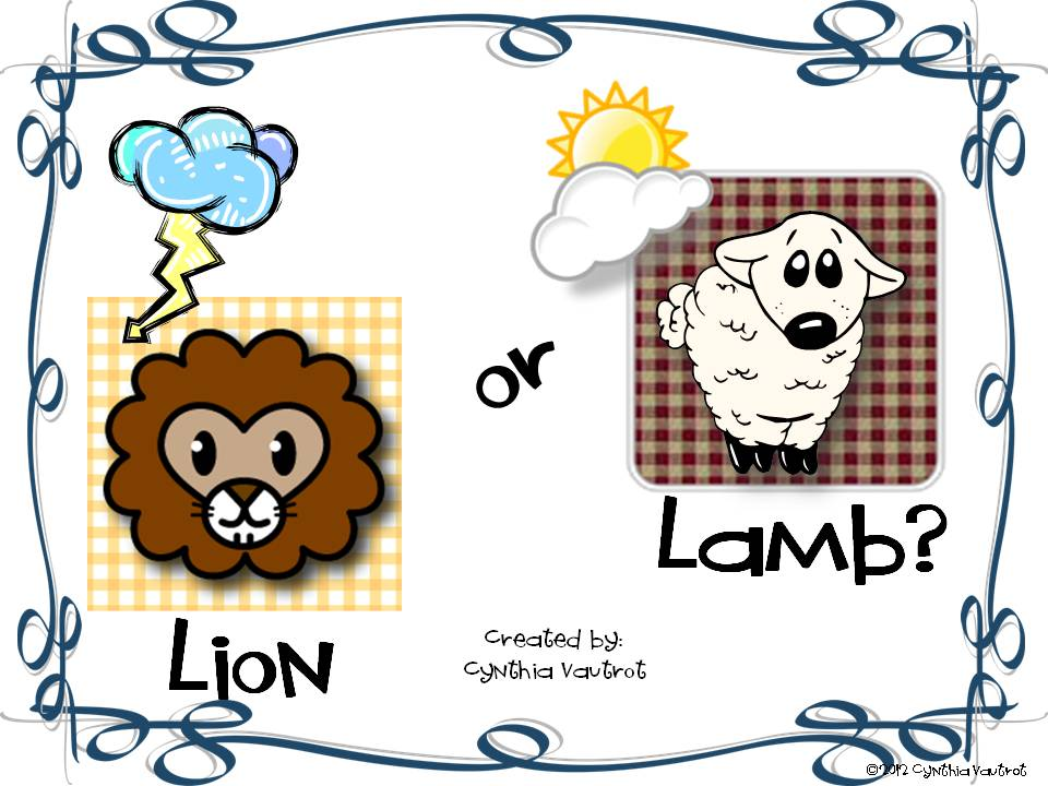 Lion or Lamb March Freebie