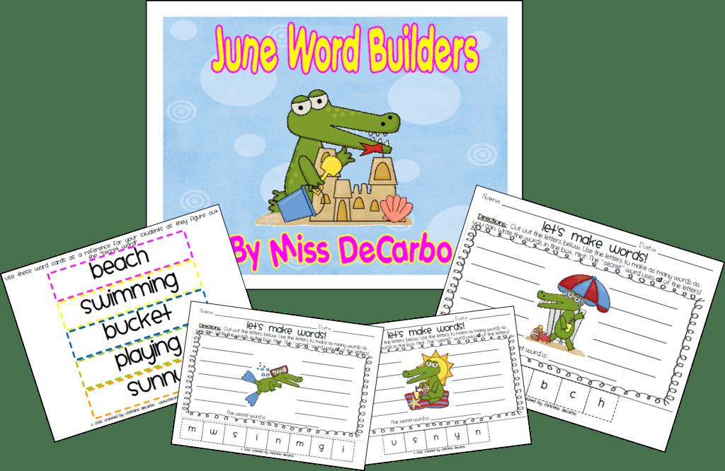 Summer Word Builders