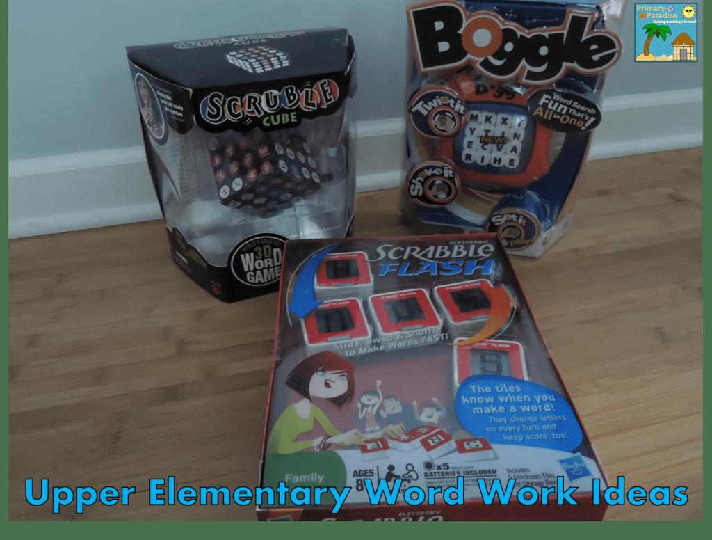 Upper Elementary Word Work Ideas