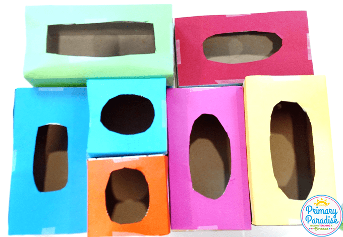 Use tissue boxes to create this simple game to use with your students to review any skill!