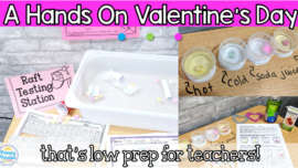 Valentine's Day activities that are hands on, low prep, and super engaging! Perfect for kindergarten, first grade, and second grade classrooms in February.