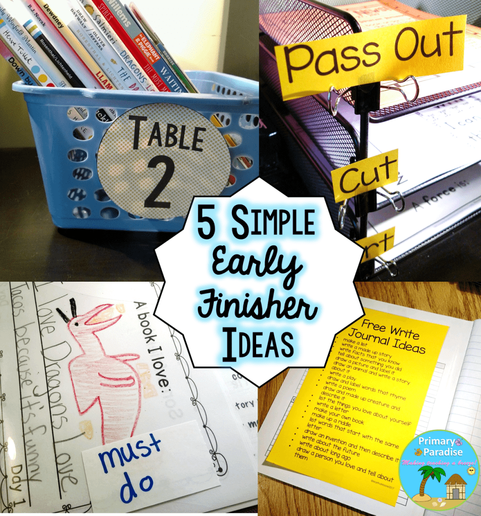 Early finishers in your classroom? Keep them learning and engaged with these 5, simple activities!