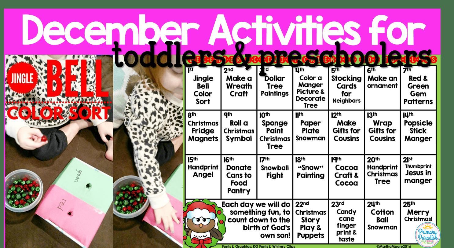 December Activities Calendar