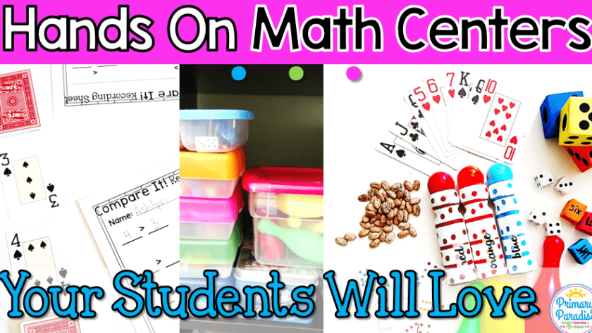 Low Prep, Hands On Math Centers Your Students Will Love