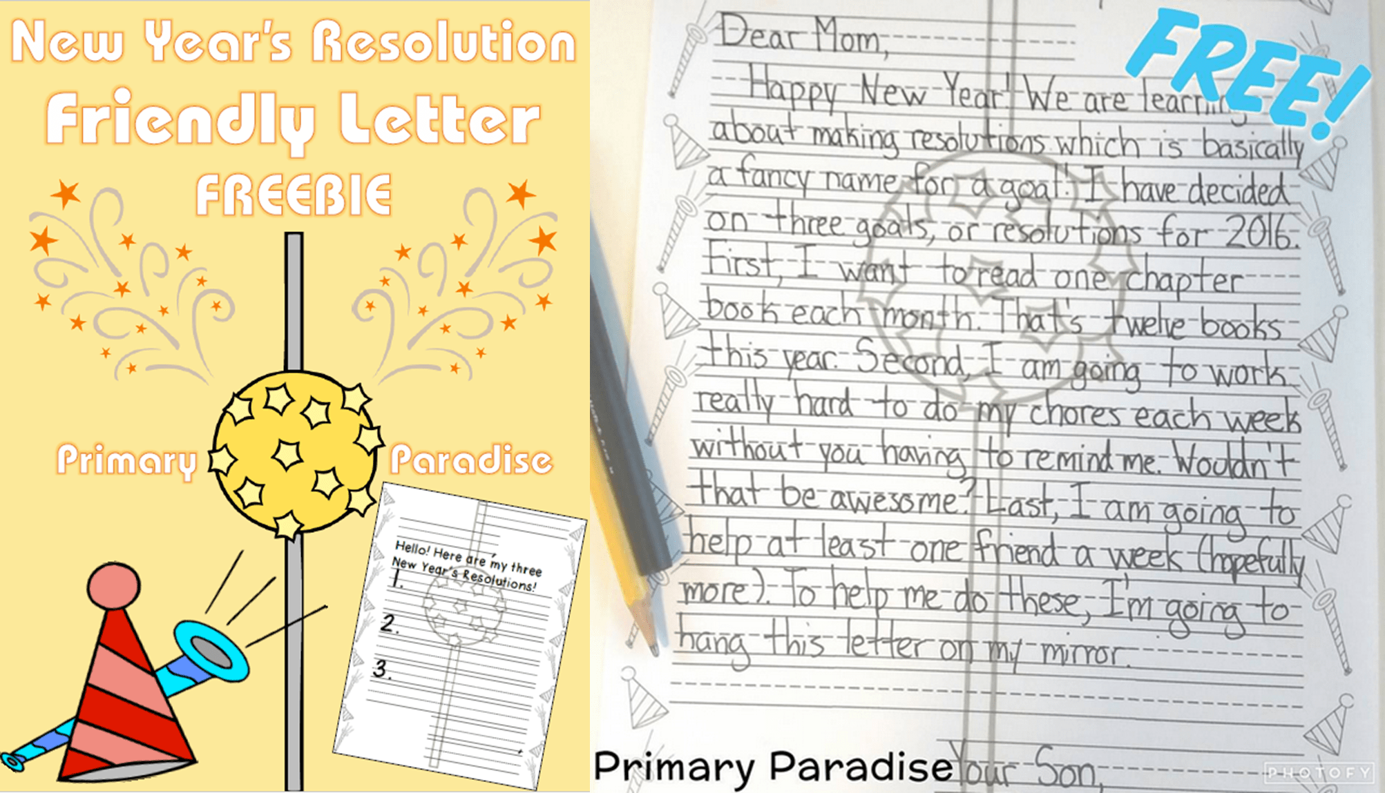 New Year Letter Freebie
