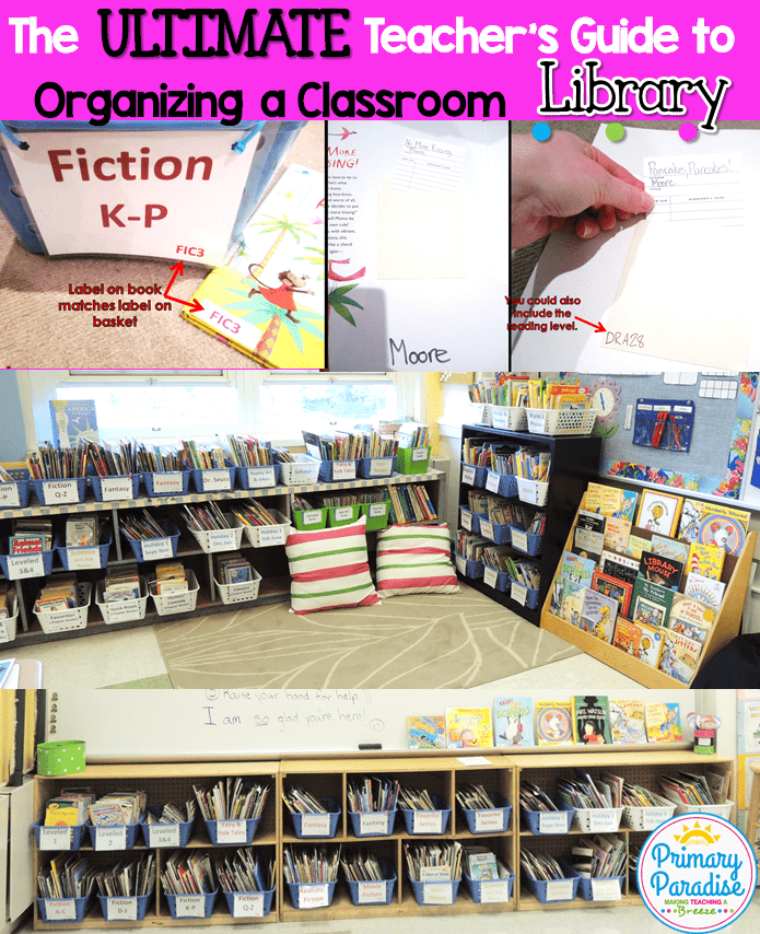 Learn how to create an organized and functional classroom library system that you and your students will love!