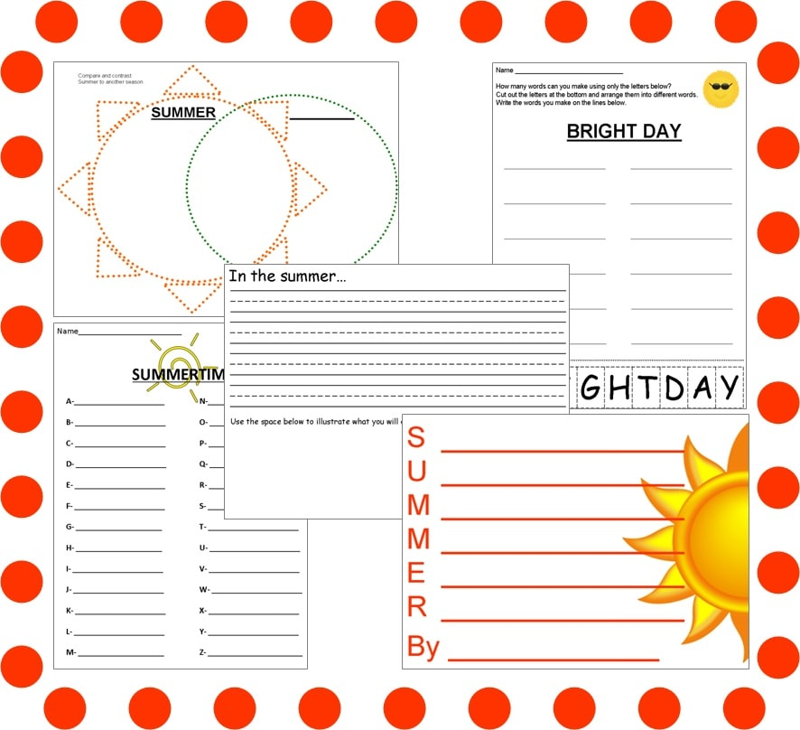 Top 5 freebies of the week 7132013 simple summer writing activities look no further than this freebie from heart2teach it includes 1 acrostic poem 1 venn diagram 1 writing prompt ccuart Gallery